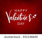 happy valentine's day lettering ...   Shutterstock .eps vector #552148600