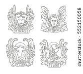 four evangelists line symbols ... | Shutterstock .eps vector #552150058