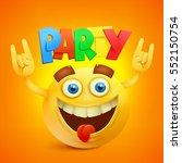 happy smiley emoticon yellow...   Shutterstock .eps vector #552150754
