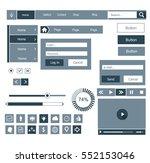web ui elements. buttons ...