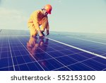 engineer working on checking... | Shutterstock . vector #552153100