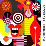 two women   abstract fine art... | Shutterstock . vector #552153208