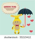 cute giraffe with umbrella 4 | Shutterstock .eps vector #55215412