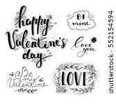 hand drawn valentine's day and... | Shutterstock .eps vector #552154594