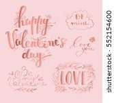hand drawn valentine's day and... | Shutterstock .eps vector #552154600