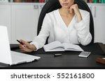 woman working in modern office | Shutterstock . vector #552161800