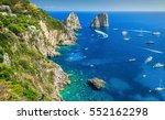 amazing faraglioni cliffs... | Shutterstock . vector #552162298