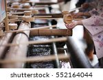 Stock photo place the ritual washing of hands before visiting a shinto shrine 552164044
