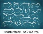 doodle sketch arrows hand drawn ... | Shutterstock .eps vector #552165796
