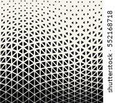 Abstract geometric triangle design halftone pattern | Shutterstock vector #552168718