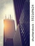 toronto downtown buildings on a ... | Shutterstock . vector #552169624