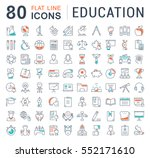 set vector line icons in flat... | Shutterstock .eps vector #552171610