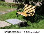 beautiful chairs in the public... | Shutterstock . vector #552178660