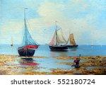 sea landscape  paintings oil ... | Shutterstock . vector #552180724