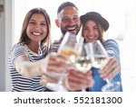 group of young people smiling... | Shutterstock . vector #552181300