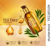 tea tree oil  nature cosmetic... | Shutterstock .eps vector #552185104