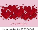 happy valentines day ... | Shutterstock .eps vector #552186844