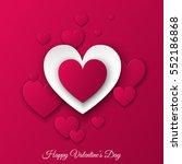 happy valentines day ... | Shutterstock .eps vector #552186868