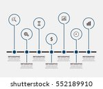 vector infographics set.... | Shutterstock .eps vector #552189910