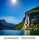 Geiranger Fjord  Waterfall...