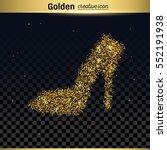 gold glitter vector icon | Shutterstock .eps vector #552191938