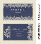 wedding invitation cards in an... | Shutterstock .eps vector #552192610