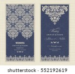 wedding invitation cards in an... | Shutterstock .eps vector #552192619