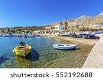 Small photo of Leros Island, Greece - September 25, 2016 : Alinda Beach view in Leros Island. Leros Island is small island in Aegean Sea.