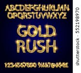 gold rush. gold alphabets and... | Shutterstock .eps vector #552198970