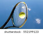 tennis player hit shot ball | Shutterstock . vector #552199123