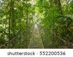 hanging bridge at natural... | Shutterstock . vector #552200536