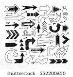doodle sketch arrows on rice... | Shutterstock .eps vector #552200650