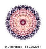 hand drawn mandala in arabic ... | Shutterstock .eps vector #552202054