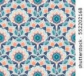 hand drawn mandala seamless... | Shutterstock .eps vector #552202168