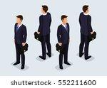 trend isometric people set 7 ... | Shutterstock .eps vector #552211600