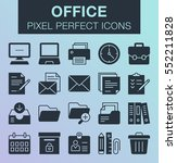 set of pixel perfect office...