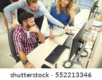 programmers cooperating at  it... | Shutterstock . vector #552213346