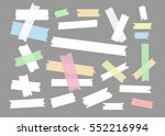 colorful different size sticky...   Shutterstock .eps vector #552216994