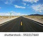 Endless Straight Desert Road