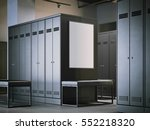 blank poster in a modern dark... | Shutterstock . vector #552218320