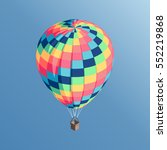colorful isometric hot air... | Shutterstock .eps vector #552219868