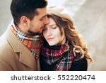 outdoor fashion portrait of... | Shutterstock . vector #552220474