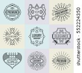 luxury royal insignias retro... | Shutterstock .eps vector #552224350