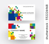 vector abstract squares ... | Shutterstock .eps vector #552226468
