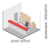 isometric flat 3d interior of... | Shutterstock .eps vector #552226714