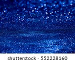 blue glitter bokeh light... | Shutterstock . vector #552228160