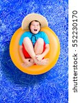 happy young boy relaxing in a...   Shutterstock . vector #552230170