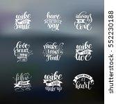 set of handwritten lettering... | Shutterstock . vector #552230188