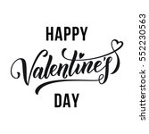 saint valentine vector heart... | Shutterstock .eps vector #552230563