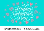 saint valentine greeting and... | Shutterstock .eps vector #552230608